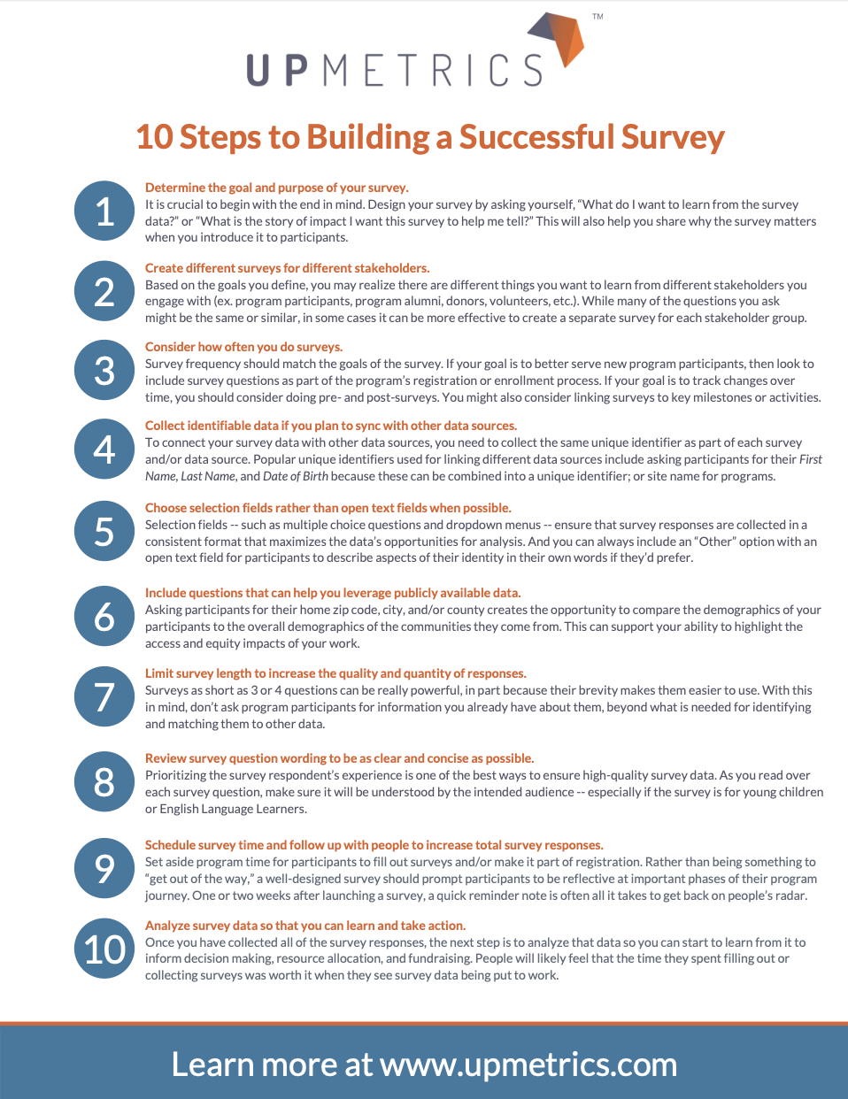 10 Steps to Successful Survey