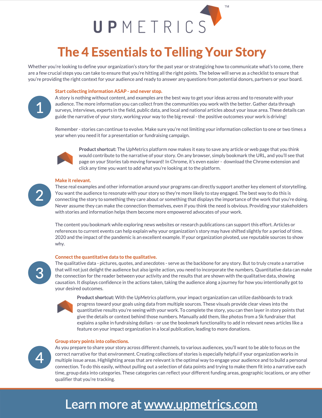 4 Essentials to Telling Your Story