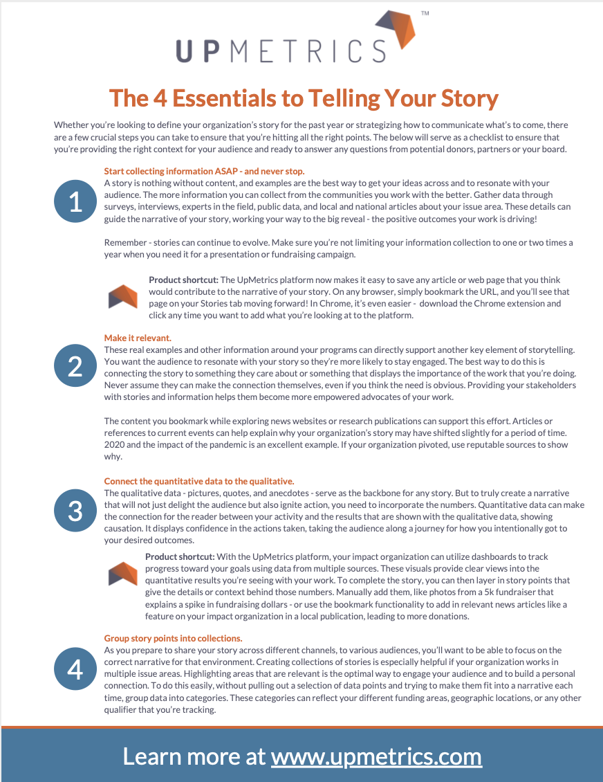 Essentials to Telling Your Story
